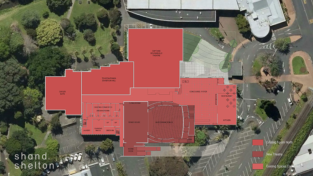 Proposed Forum North Theatre Site
